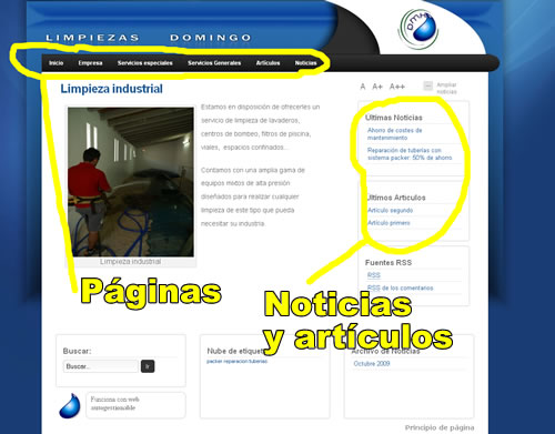 Web autogestionable
